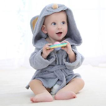 Infant Cartoon Newborn Clothes Hooded Robe, Cotton Towel Cloak