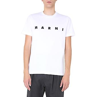 Marni Humu0170p0s2372700w01 Men's White Cotton T-shirt