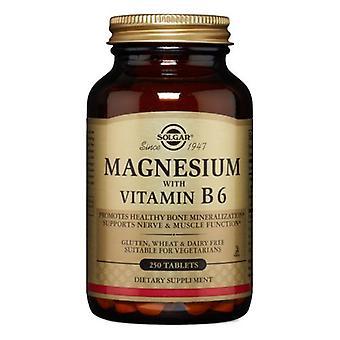 Solgar Magnesium med vitamin B6 tabletter, 250 flikar
