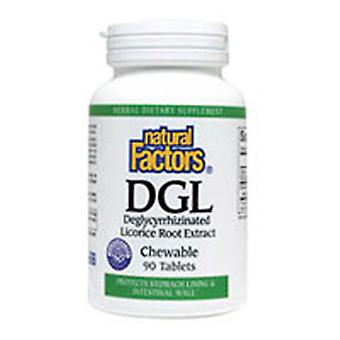 Natural Factors DGL Licorice Root Extract, 90 Chewable Tabs