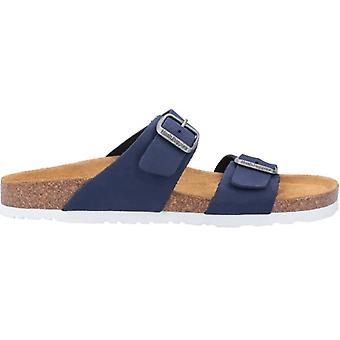 Hush Puppies Kylie Ladies Leather Two Strap Sandals Navy