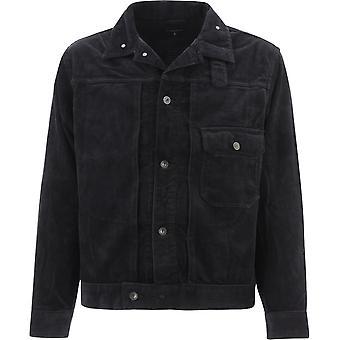 Engineered Garments 20f1d007wp011 Men's Black Cotton Outerwear Jacket