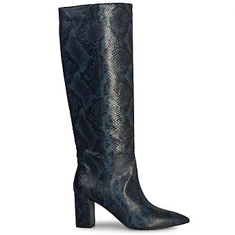 Janet & Janet Phebe Python Effect Blue Boots