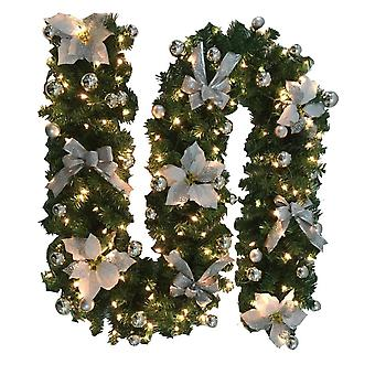 8.8-foot Christmas Lights Garland, Battery-driven Christmas Garland With Lights, Used For Indoor Home Winter Holiday, New Year And Christmas Decoratio