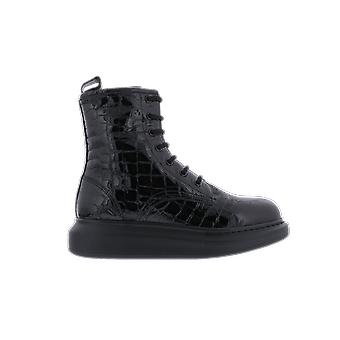 Alexander McQueen H.Boot.Leathe.S.Rubb Glos Negru 633922WHY201000 pantof