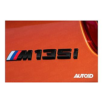 Gloss Black BMW M135i Letters Rear Boot Lid Trunk Badge Emblem For 1 Series E81 E82 E87 E88 F20 F21 F52 F40 170mm x 20mm
