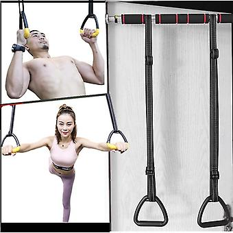 Gymnastics Rings Abs With Heavy Duty Adjustable Straps Non-slip For Stretching
