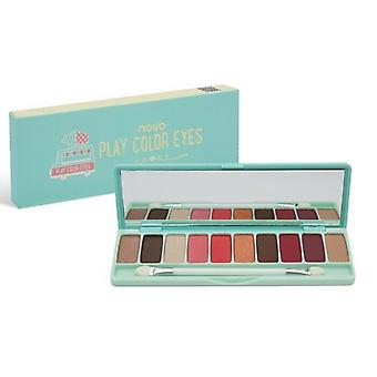Colour Make Up Eyeshadow Palettes - 10 Colour Matte Turquoise