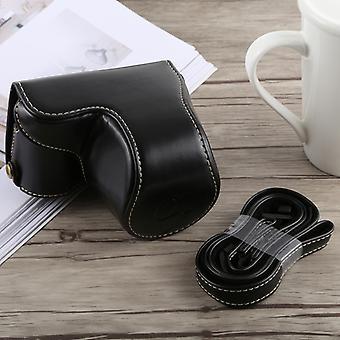 Full Body Camera PU Lederen tas met riem voor Sony A5100 (Zwart)