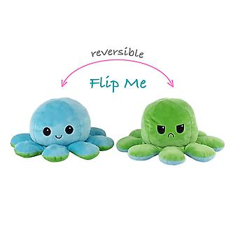 Reversible Octopus Plushie Double-sided Flip Doll Show Mood Toy
