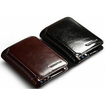 Man Bang High Quality Classic Style Wallet Leather Short Male Purse Card Holder