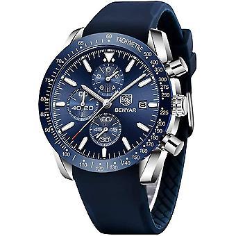 BY BENYAR Mens Watches Analog Chronograph Quartz Wrist Watch Gift for Men