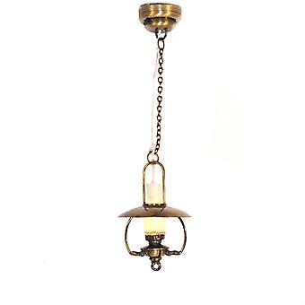 Dolls House Wiszące Mammoth Oil Lamp Nostalgiczne Led Battery Ceiling Light