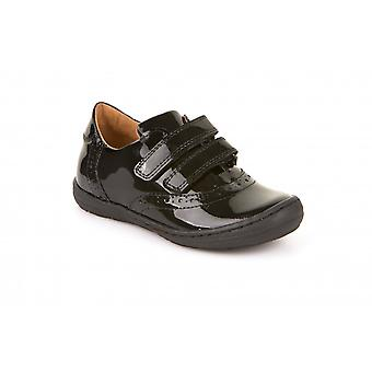 FRODDO διπλό velcro κλειστό μπροστινό μαύρο δίπλωμα ευρεσιτεχνίας παπουτσιών