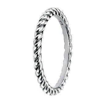Elementer Sølv 925 Sterling Sølv oxideret Finish Twist Band Ring