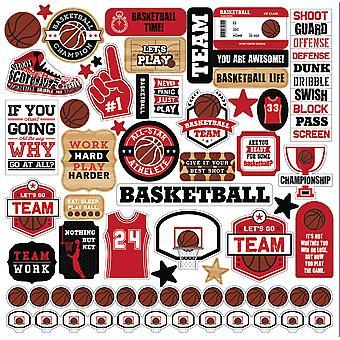 Echo Park Basketball Element Sticker