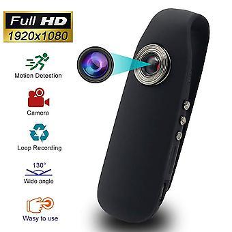 Kaleser mini spy hidden camera, full hd 1080p portable pocket clip wearable mini body camera with au
