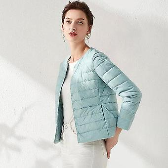 Woman Ultra Light Down Jacket, Portable Parka Fabric, Casual Duck Coat, Warm