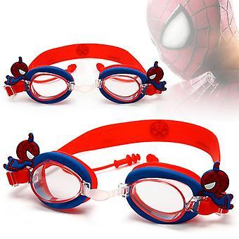 Óculos de natação de desenho animado de silicone durável, crianças, crianças, óculos, anti neblina,