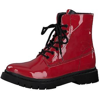Booties Low Heels Brevet rouge
