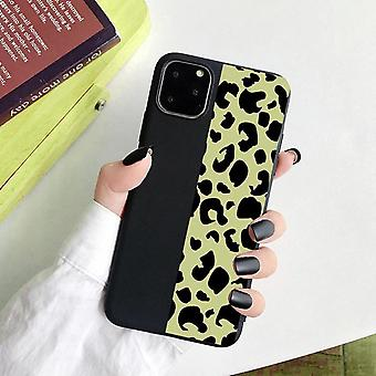 iPhone 12 Pro Max Shell half leopard pattern 2 colors black red