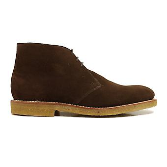 Loake Rivington Brown Suede Leather Mens Lace Up Boots