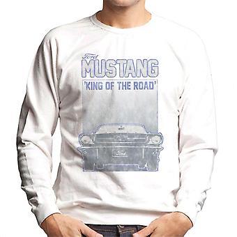 Ford Mustang Rey de la carretera vista frontal hombres's sudadera