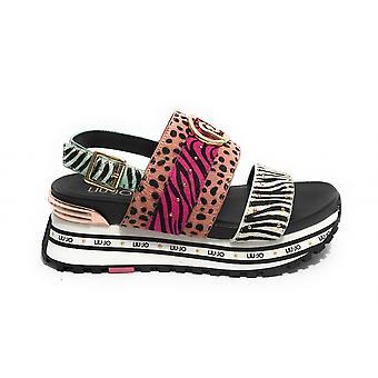 Shoes Sandalo Liu-jo Maxi Wonder Leather Multicolor Horse Ds21lj26 Ba1081 Ba1075