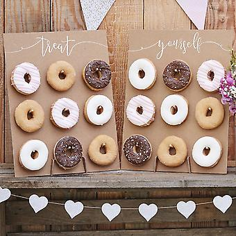 Rustikale Kraft Finish leckeren Donut Wand für Gäste, die Hochzeitsfeier - rustikale Land