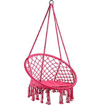 tectake hengende stol Jane - rosa