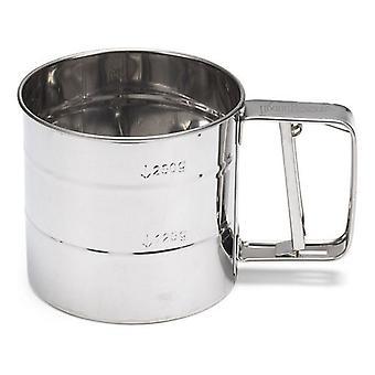 دقيق منخل 250 غرام من الفضة الفولاذ المقاوم للصدأ