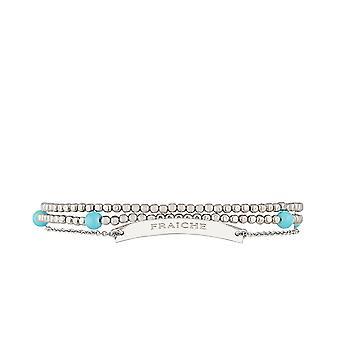 'FRAICHE' Bracelet chaine argenté à message