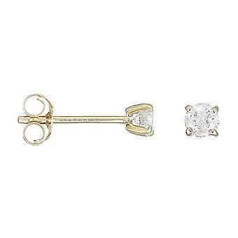 Gult guld och diamantörhängen 0,50 karat