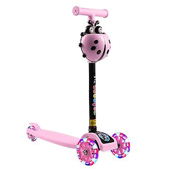 T Bar Balance Riding Kick Scooters, Fun Sport Toy, Led Wheel Adjustable Kids