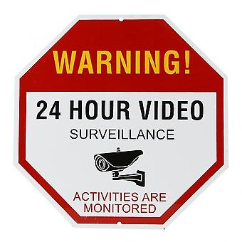 Videobewaking waarschuwing 24 uur videobewaking beveiliging vermijd indringers