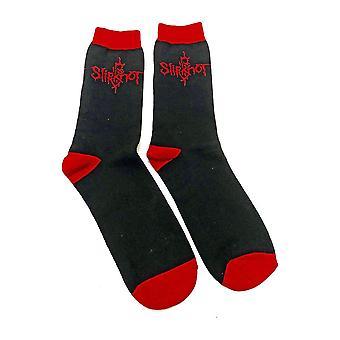 Men's Slipknot Logo Black Crew Socks
