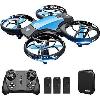 FengChun V8 Mini Drohne für Kinder Hand betrieben RC Quadcopter mit 3 Batterien längere Flugzeit,