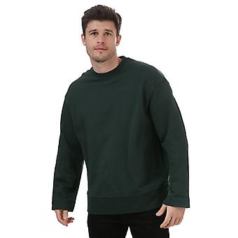 Miesten Y-3 klassinen rintalogo collegepaita vihreä