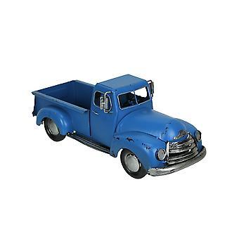 Blue Antique Pickup Truck Planter Vintage Farmhouse Decor Rustic Plant Stand