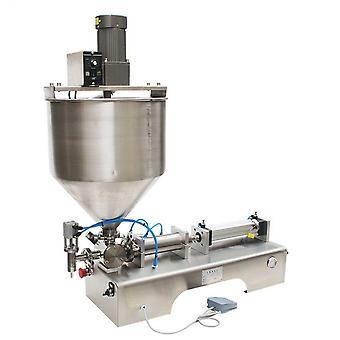 Machine de remplissage de pâte de type pied en acier inoxydable, machines liquides de bouteille de crème
