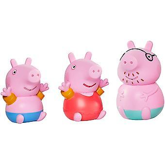 Toomies Peppa Pig - Daddy Pig, Peppa & George Bath Squirters