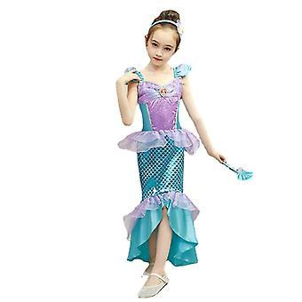 ملابس السباحة للأطفال ملابس السباحة الصيف الأميرة فستان حورية البحر فتاة فستان هالوين أزياء الأداء ملابس السباحة