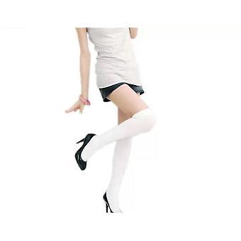 Över knäet sexiga kompressionsstrumpor - svart, vit, grå, blå eller lila