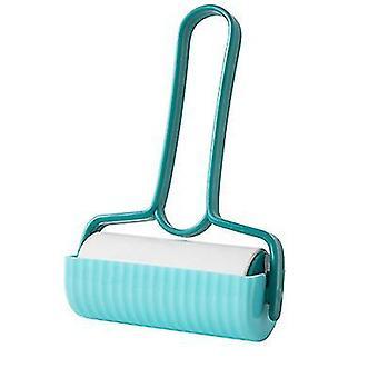 2Pcs blue household tearable sticky paper roll brush sticking hair az12596