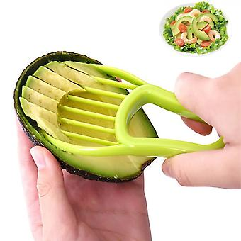 3 In 1 Avocado Slicer Pulp Separator Shea Corer Butter Fruit Peeler Plastic Kitchen Gadgets