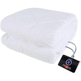 """Westinghouse Heated Mattress Pads Dual Temperature Control Electric Bed Warmer White Twin Size 39""""x 75"""""""
