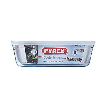 Pyrex Rectangular Dish With Lid 2.6L