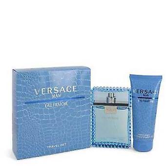 Versace mies Versace Gift Set--3,3 oz Eau de Toilette Spray (Eau Frachie) + 3,3 oz suihku geeli (V728-457551