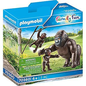 Playmobil Family Fun Gorilla with Babies Playset