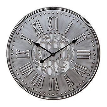 """שעון קיר מתכת אפור ביתי 60 ס""""מ"""